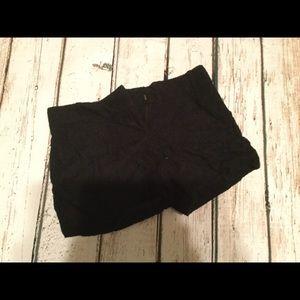 Ann Taylor Loft Size 0 Lace Black Shorts